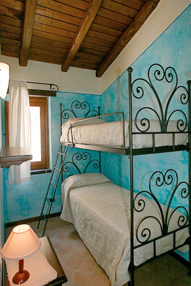 La camera con letti a castello